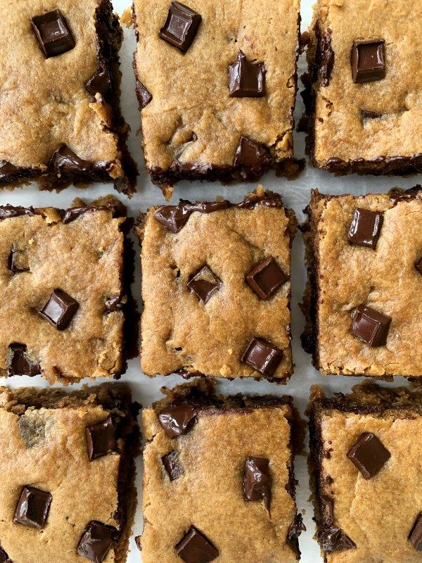 Bring on the blondies! @hellospoonful's Chocolate Chunk Tahini Blondies are rich, buttery, and nutty. Stop what you're doing and make a batch ASAP.  Get the recipe: https://thefeedfeed.com/hellospoonful/chocolate-chunk-tahini-blondies… #feedfeed #tahini #blondies #chocolate #chocolatechunk #dessert #snacktime #yummy #sweets