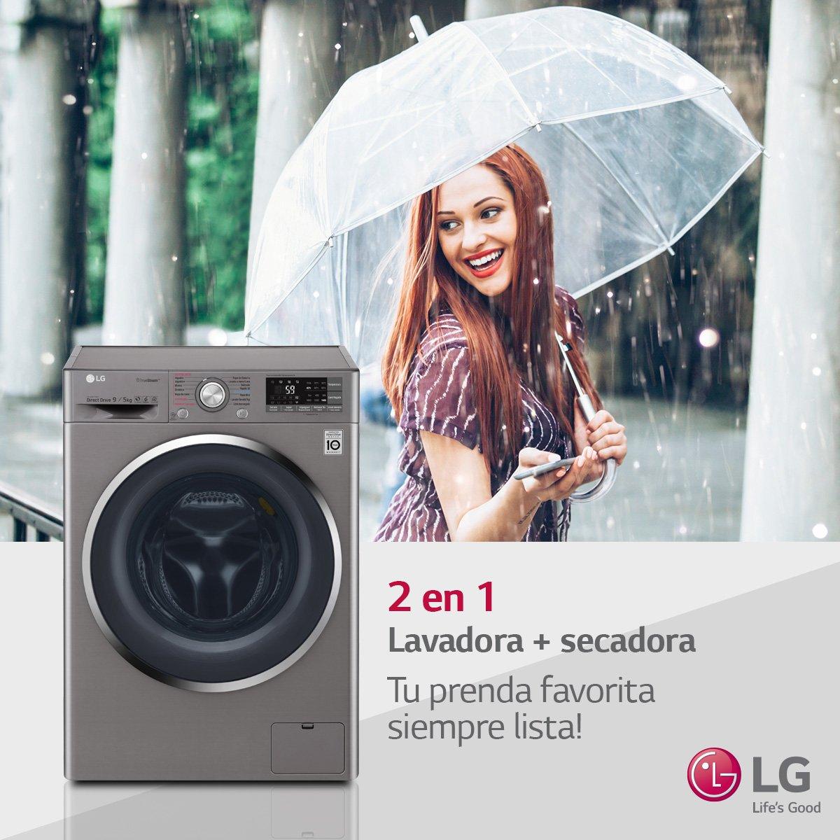 Climas inestables o días grises? No te preocupes! La mejor opción es la #LavaSeca LG para que tu ropa se mantenga limpia y seca!. Encontrala en las mejores tiendas del país. https://t.co/uiy31gou1n