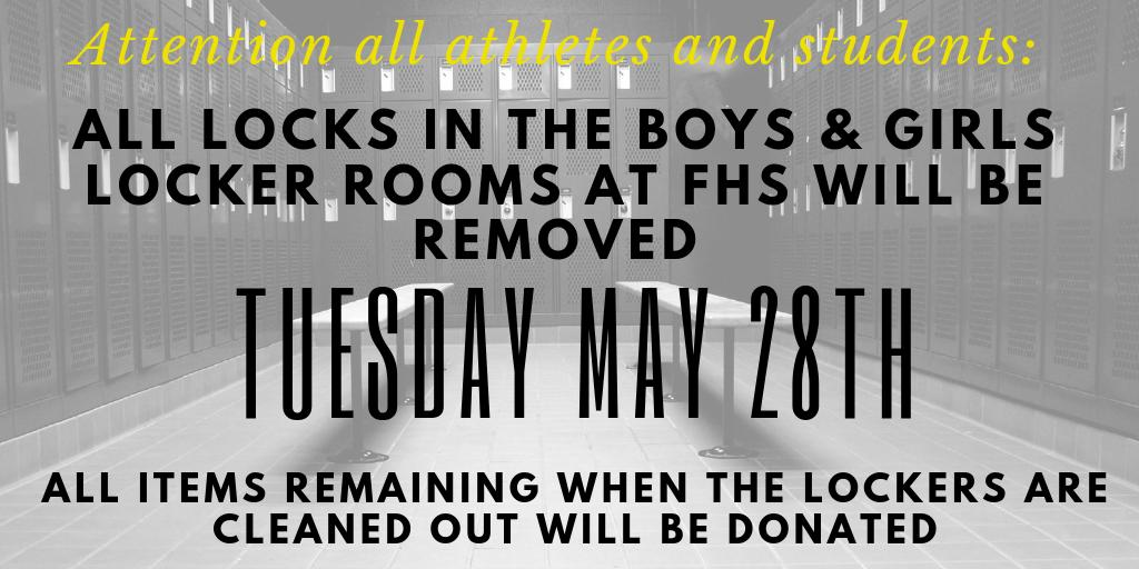 Go clean out your lockers!
