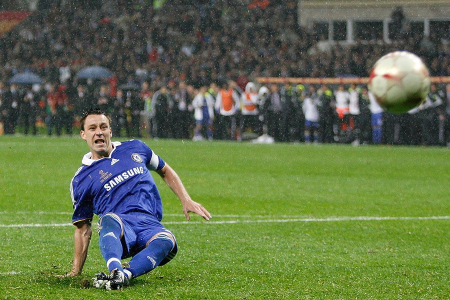 #OnThisDay 2008: John Terry slipped on his arse and Manchester United won the Champions League.