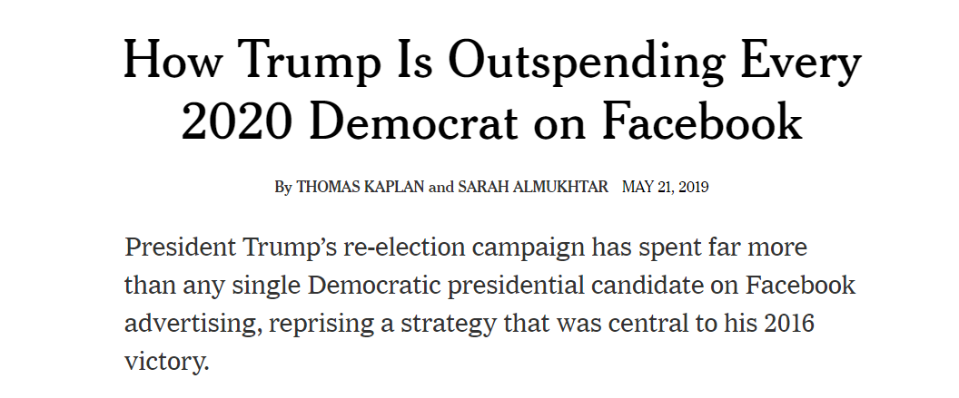 1. The New York Times wrote an entire article on the Trump campaign's Facebook ads without mentioning that Facebook has admitted the Trump campaign RAN HUNDREDS OF ADS THIS YEAR THAT VIOLATED FACEBOOK RULES  cc: @thomaskaplan @SarahAlmukhtar  https://popular.info/p/trump-campaign-running-hundreds-of…