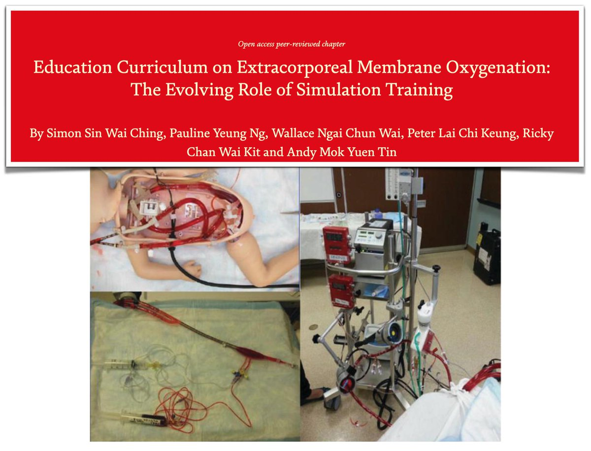 Simulation training increasingly acknowledged as essential in #ECMO #education: #ECLS low-volume but highly complex technology; management requires integration of cognitive psychomotor &amp; behavioural skills that can be addressed by #sim!  #FOAMed #FOAMcc  http:// bit.ly/2YCoUbN  &nbsp;  <br>http://pic.twitter.com/ZaNumUEIxa
