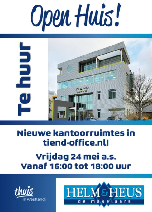 ADV; Open Huis Tiend Office op 24 mei https://t.co/XaAX6n07ye https://t.co/tNQ0yRtpw7