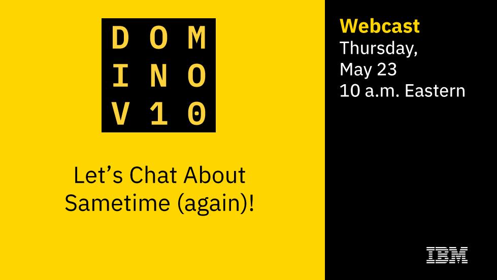 Übermorgen - #IBM #WebCast - #Sametime - Anmelden - https://t.co/J8fB08jsZ9 #dominoforever