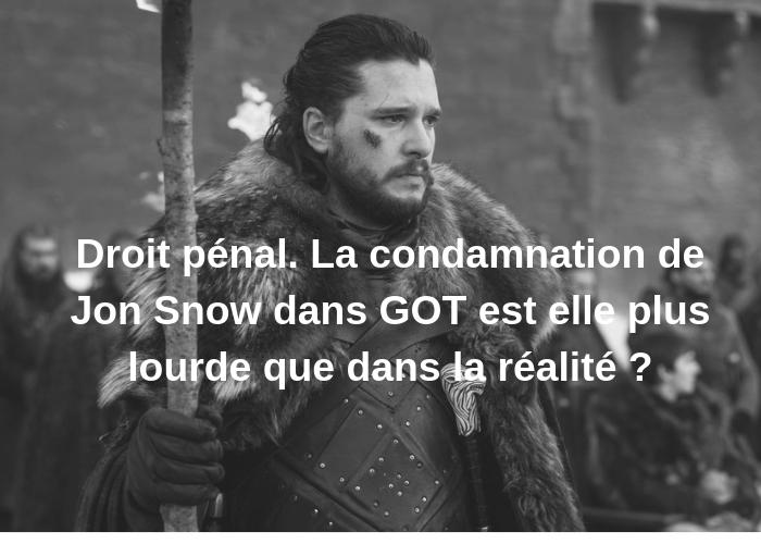 ✏️Nouvel article !!✏️ lien : institut-ulpien.com/droit-penal-la… Droit pénal. La condamnation de Jon Snow dans GOT est elle plus lourde que dans la réalité ? #GOTSeasonFinale #GoT8Spoiler #JonSnow #Daenerys #droit