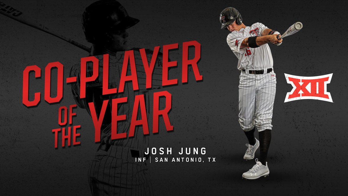Jung is the fourth Big 12 Player of the Year in program history and the third Red Raider to earn the honor in the last four years.   #WreckEm<br>http://pic.twitter.com/apmWmtpbTa