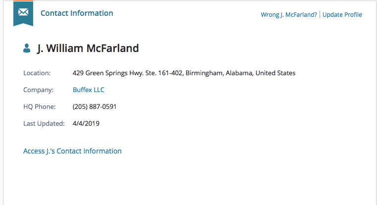 BUFFEX LLC is registered to one J. William &quot;Billy&quot; McFarland. <br>http://pic.twitter.com/do7McnMpEt