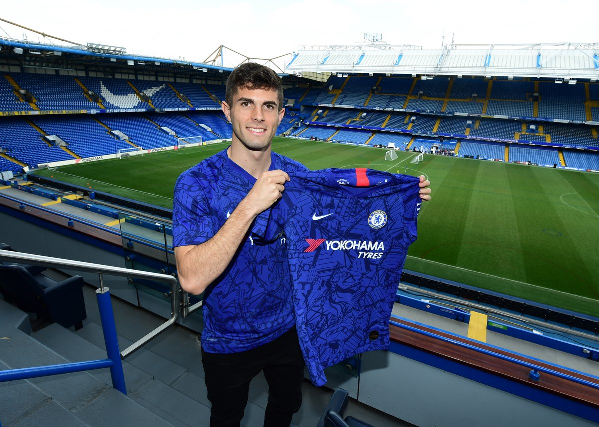 Christian Pulisic: Welcome to @ChelseaFC 🔵