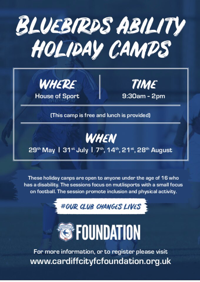 Multisport holiday camps for disabled children with @CCFC_Foundation #GetInvolved @dsw_news #sportcardiff<br>http://pic.twitter.com/AheGWsPOqf
