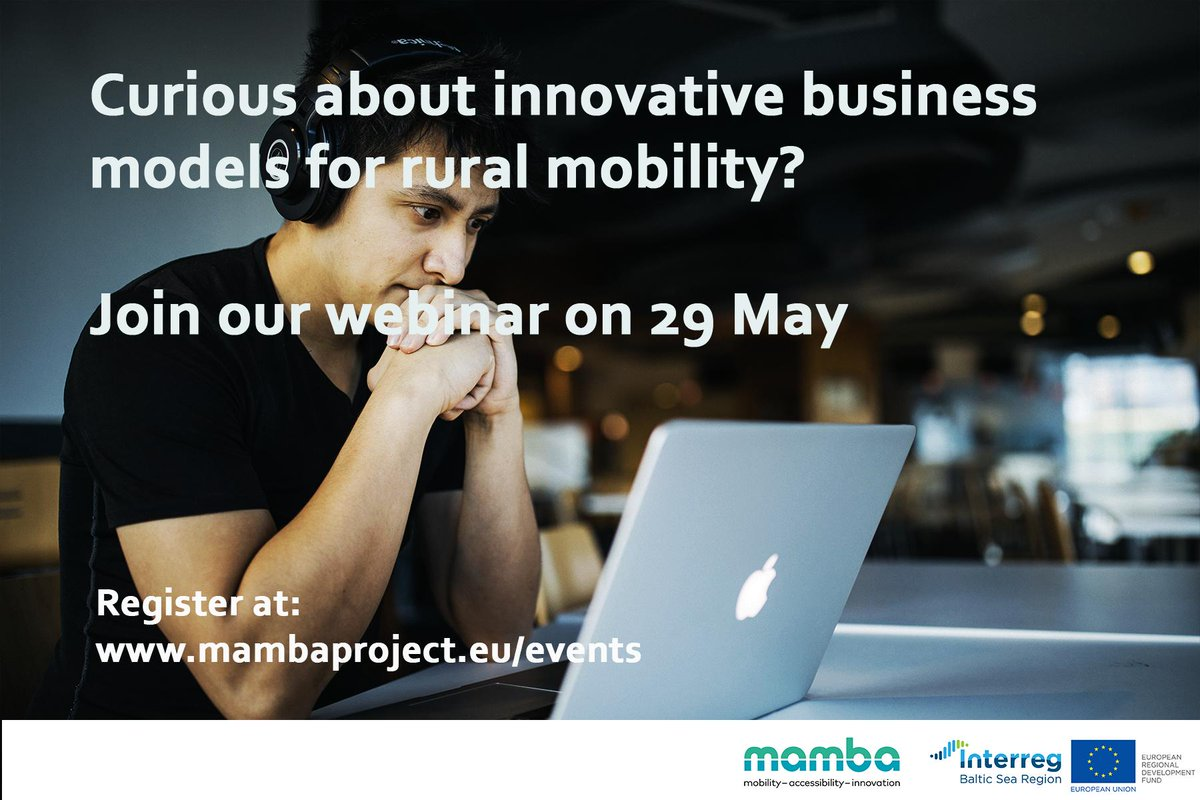 #Interreg projects deliver visible results for cities and regions by, for example, sharing knowledge on business models for rural mobility. Check out the #MAMBAproject webinar!