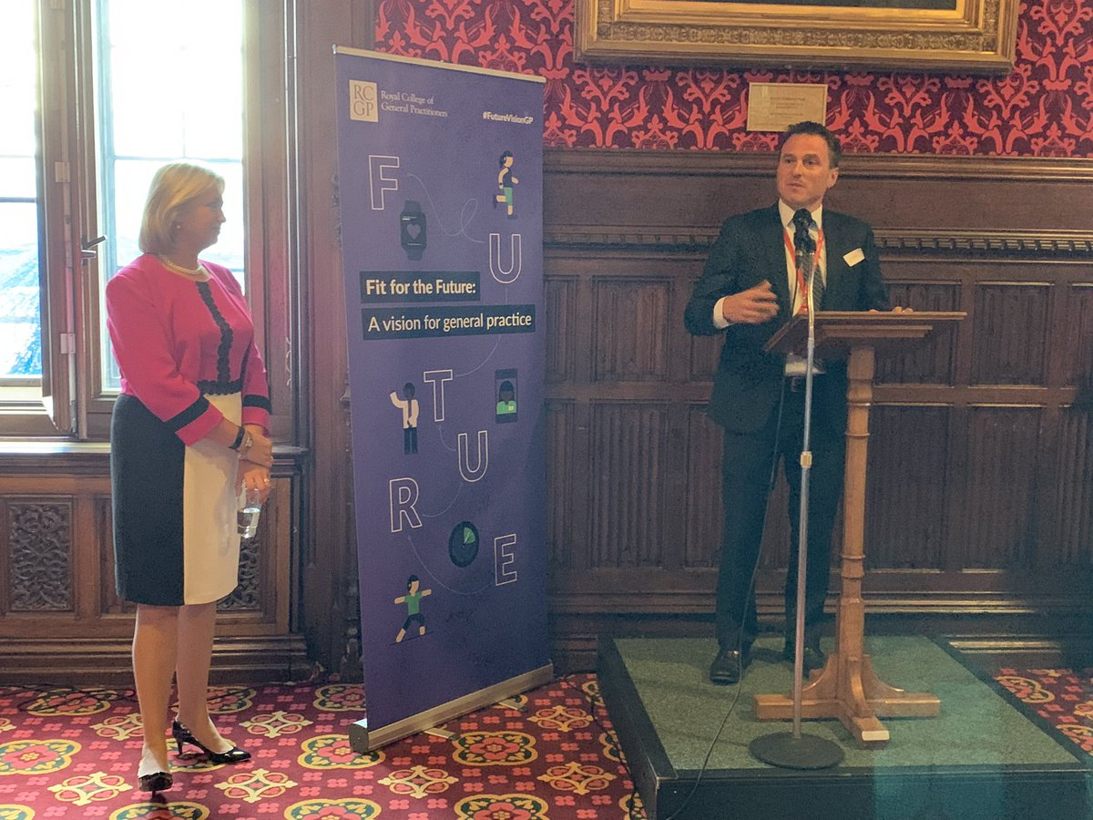 """.@PaulWilliamsMP kicks off the launch of #FutureVisionGP in @UKParliament - """"I hope I never have to stop being a GP. General practice is truly at the heart of the health service."""" @HelenRCGP"""
