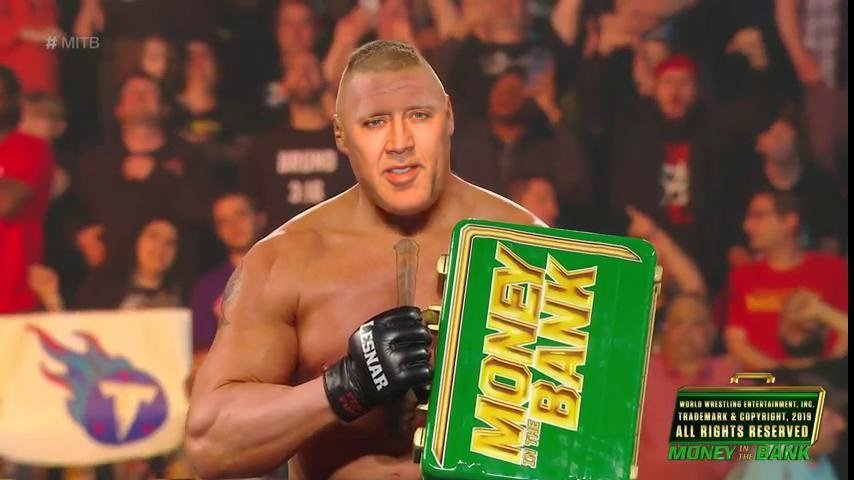 Bricolas Cage is our Mr Money in the Bank  (Nic Cage as WWE Superstar, Brock Lesnar) #CageFest   @pkmmpositivity @1wiccangirl