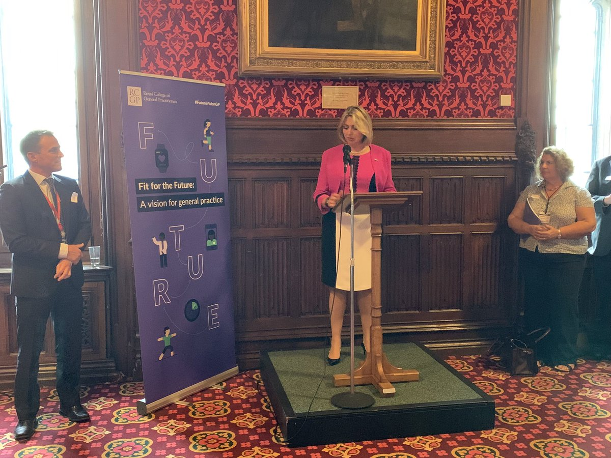 """.@HelenRCGP: """"we are at the dawn of a new era of general practice, but there is so much more potential to be unlocked"""" #FutureVisionGP launch @UKParliament"""