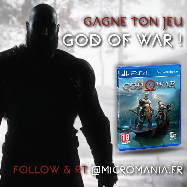 God of War a été vendu à 10 millions d'exemplaires dans le monde ! Un succès exceptionnel ! Pour l'occasion, on vous fait gagner 10 exemplaires du jeu qui est pour beaucoup le GOTY 2018 ! RT & Follow @Micromania_Fr ! Tirage au sort dans une semaine !