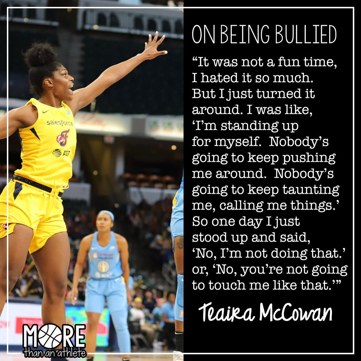 "6'7"" center Teaira McCowan (@Teaira_15), recent Mississippi State grad and WNBA draft pick #3, on being bullied when she was younger. . #wnba #teairamccowan #hailstatewbk #indianafever #fever20 #morethananathlete"