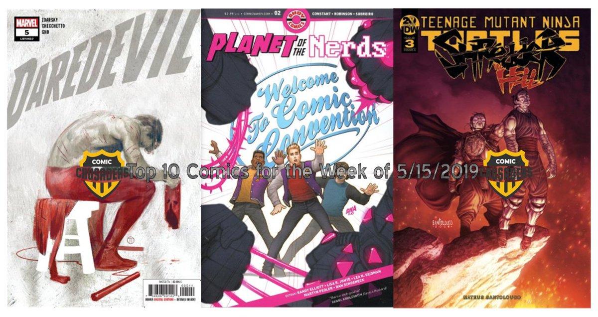Top 10 Comics for the Week of 5/15/2019 by @movierevolt @IDWPublishing @ArchieComics @DCComics @AhoyComicMags @ImageComics @Marvel @vertigo_comics @DarkHorseComics #comics http://ow.ly/Bhcn30oMX7B