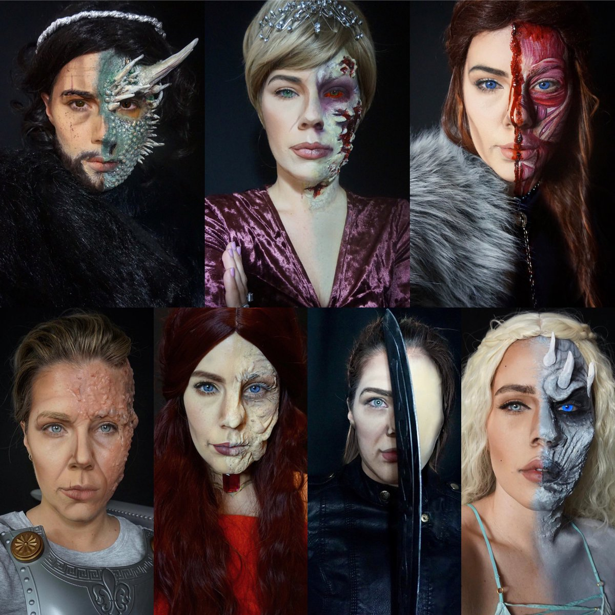 My complete @GameOfThrones makeup series #ForTheThrone #GamefThrones #nowwhatdoiwatch <br>http://pic.twitter.com/d3yXJ3KUpu