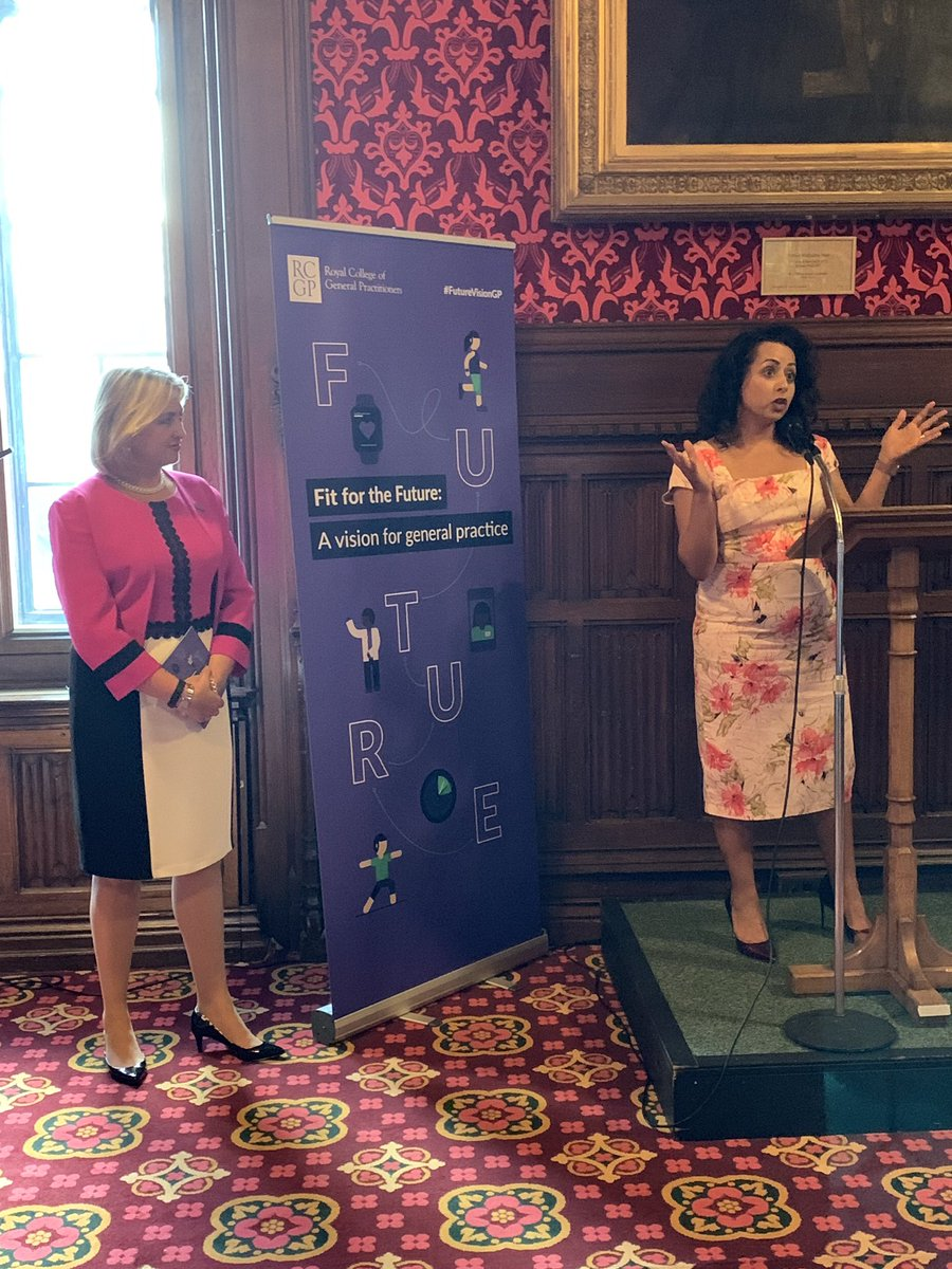 .@NikkiKF @NHSEngland speaks at #FutureVisionGP launch @UKParliament about the importance of the wider team in general practice in ensuring that patients always get the most appropriate care for their diverse health needs