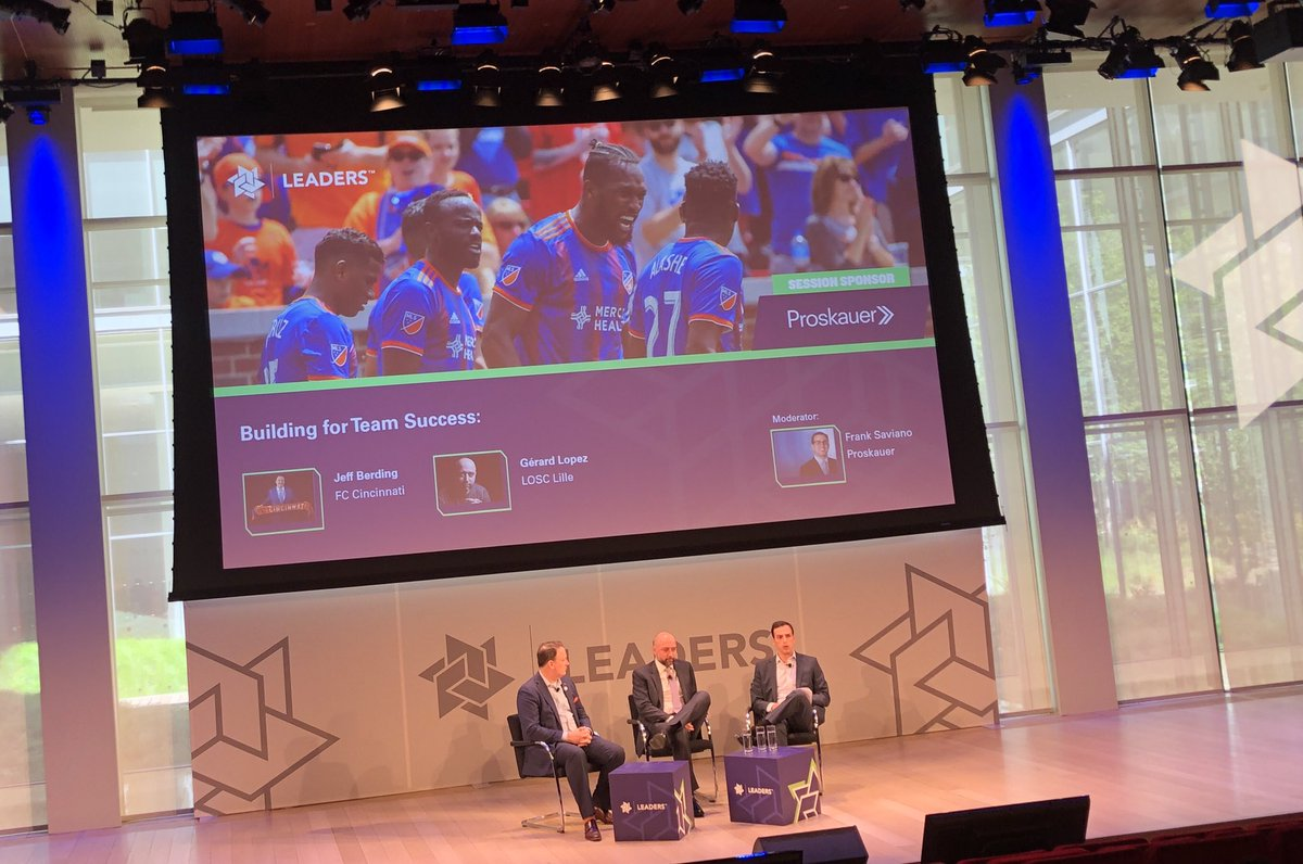 Strong @fccincinnati presence at an international sports conference at #LeadersWeek in NYC with @JeffBerding speaking &amp; showcasing Cincinnati<br>http://pic.twitter.com/ITxRZvdP3C