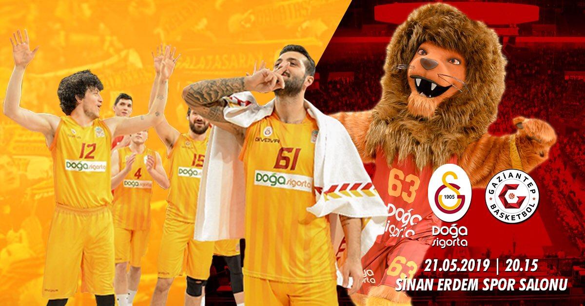 GAMEDAY! @basketsuperligi Play-off Çeyrek Final 1. MaçGalatasaray Doğa Sigorta  Gaziantep Basketbol 20:15 Sinan Erdem Spor Salonu#FightAsOne