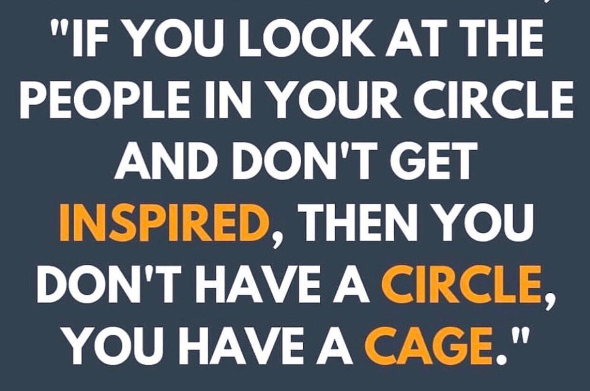 We all need inspiration...and to ask ourselves how much of this we get from those who we surround ourselves with daily. #getinspired #wearethecompanywekeep