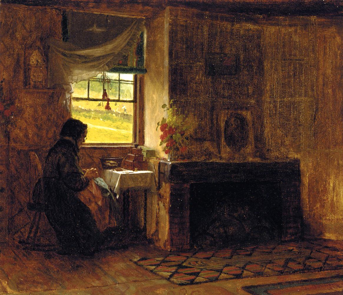Interior of a Farm House in Maine, 1865 #johnson #americanart<br>http://pic.twitter.com/Ead4jsFea1