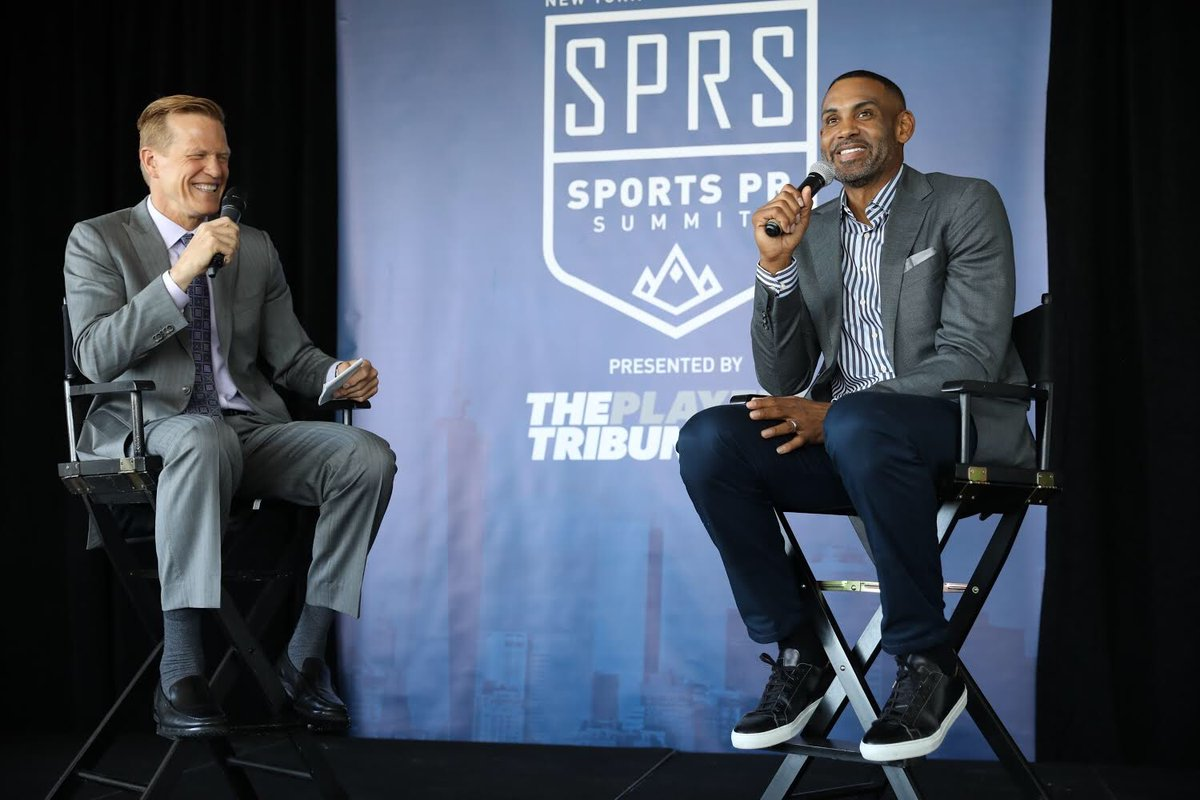 We're here at the #SportsPRSummit presented by @PlayersTribune in #NYC all day today, hearing from leaders and legends in the world of #professionalsports and #sportsmedia. We loved the inspiring conversation from @realgranthill33 and @RicBucher this morning. Stay tuned for more!