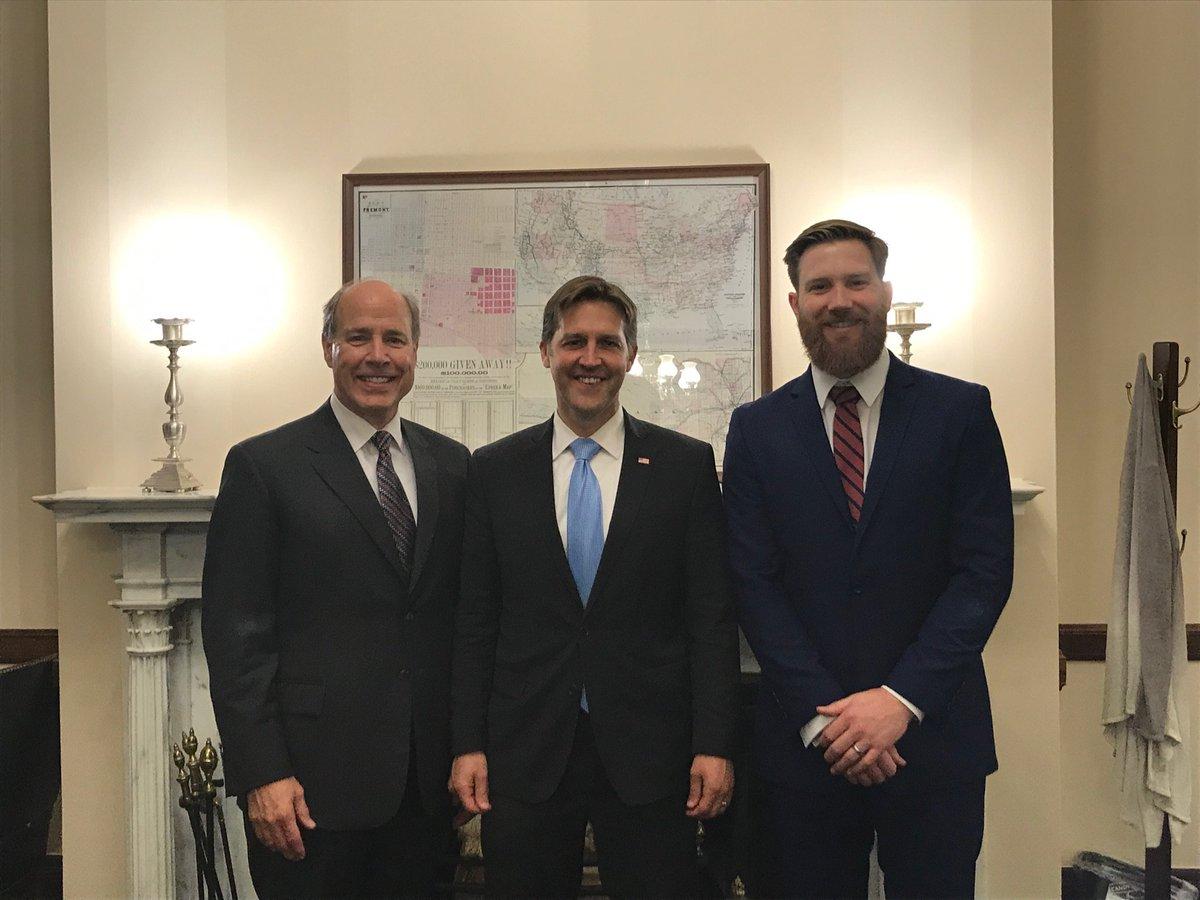 Nebraska AFP Representatives, Dr. Steve Williams &amp; Dr. Chris Snyder met with Senator Ben Sasse  @SenSasse  on health care issues today #FMAS2019 #FamilyMedicineMatters #Nebraska<br>http://pic.twitter.com/x9rmmVBoun