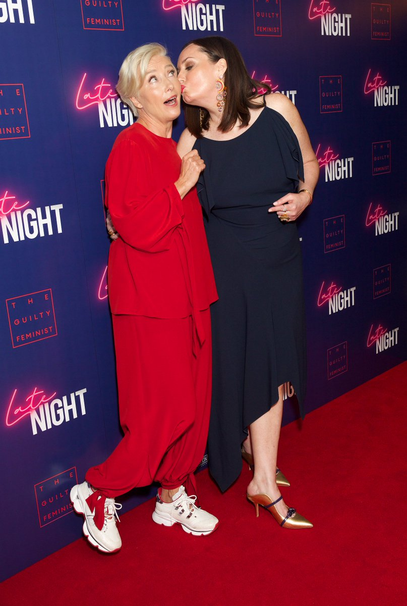 #EmmaThompson and #DeborahFrancesWhite at last night's screening of Late Night in partnership with The Guilty Feminist Podcast. In cinemas June 7! #TuesdayThoughts #TuesdayMotivationpic.twitter.com/PY2uTExb9Z