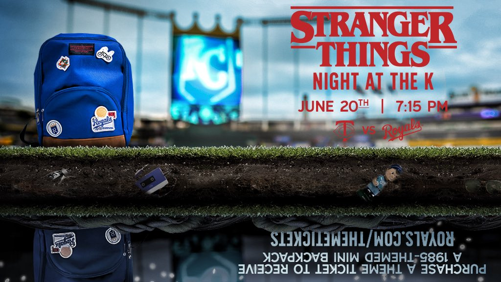 Friends. Don't. Lie.Throw it back to 1985 with us for @Stranger_Things Night at #TheK on June 20.http://royals.com/strangerthings