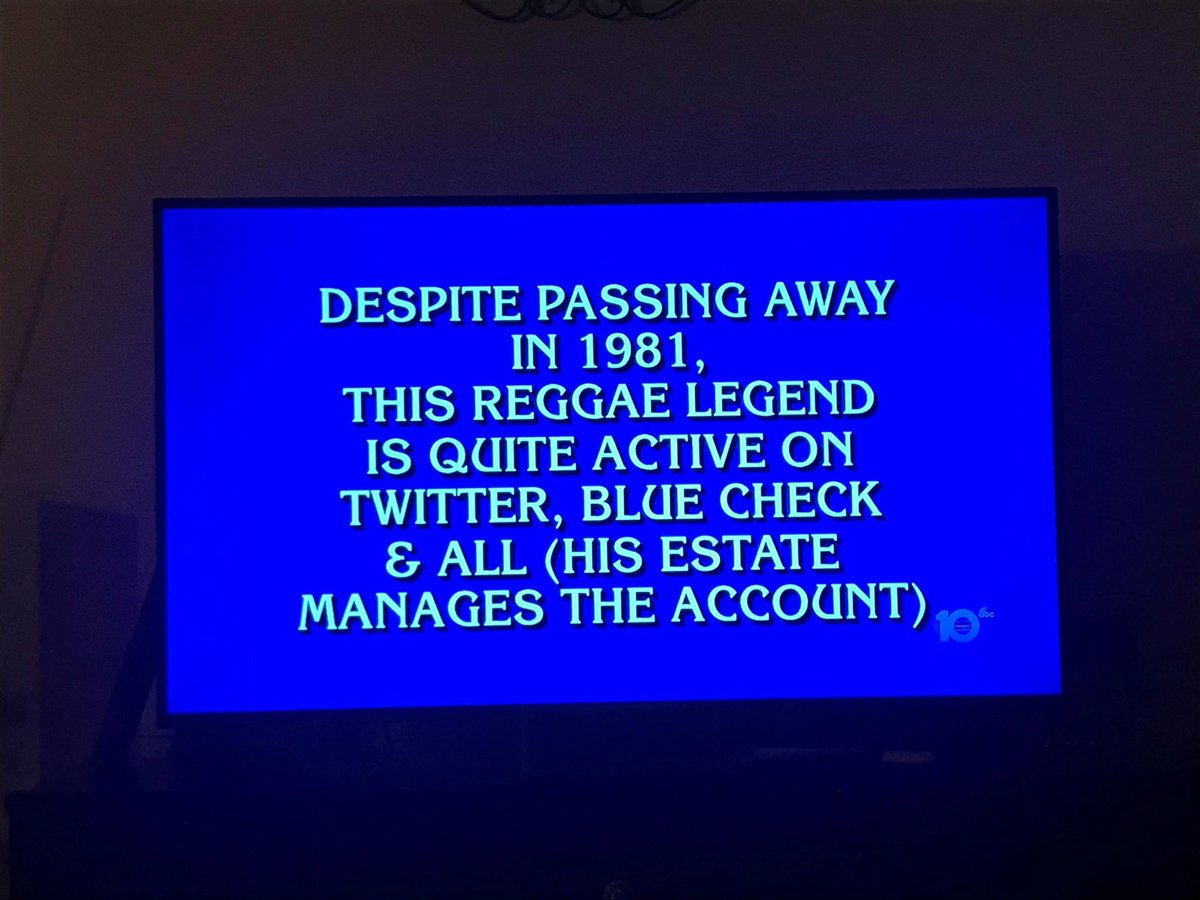 Bob Marley's photo on #Jeopardy