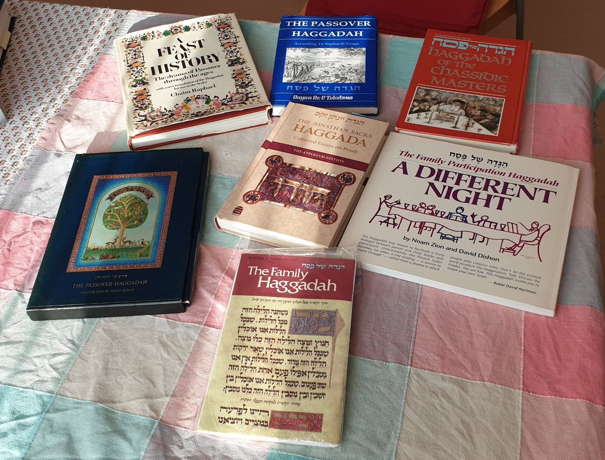 Various copies of the #Haggadah #Jewish #Passover