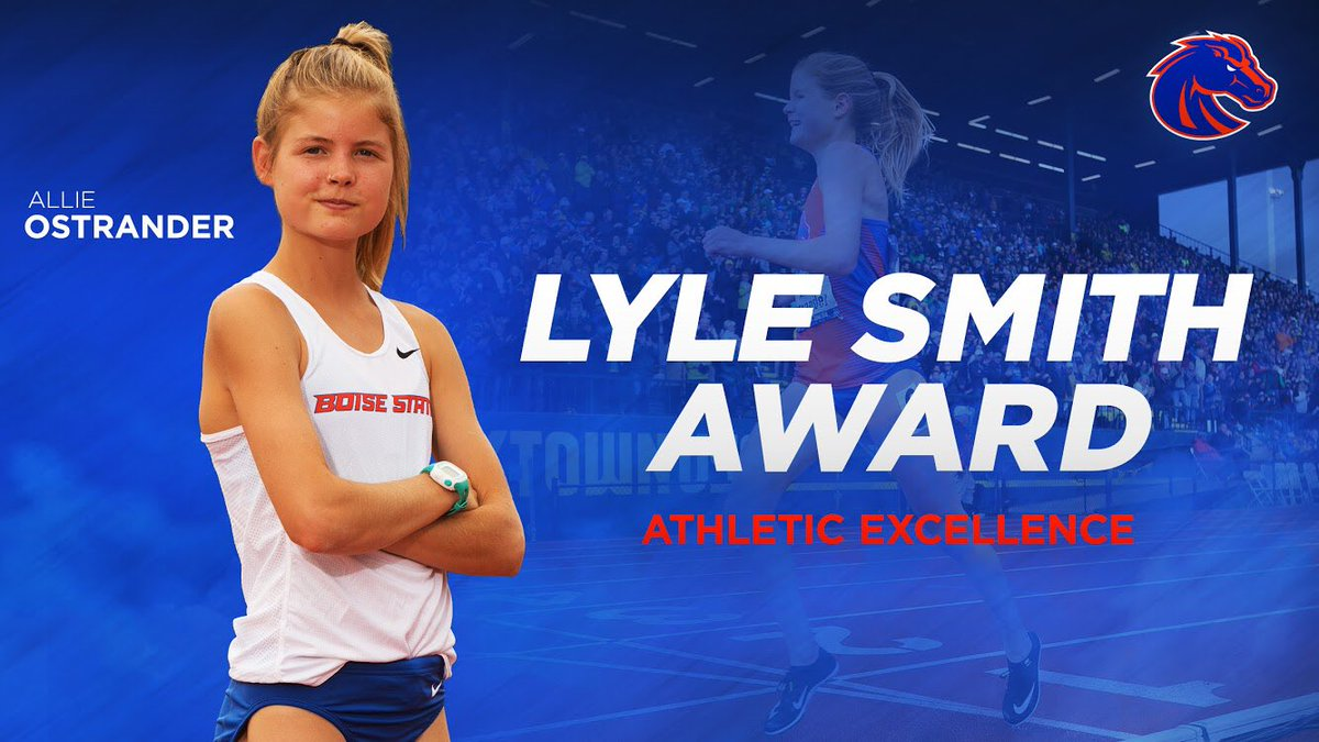 Definition of a student-athlete!   Congratulations to @allie_ostrander for receiving a share of the Lyle Smith Award for athletic excellence, as well as the Highest GPA Award from our department during last week's graduation festivities!   #BleedBlue<br>http://pic.twitter.com/yKX4ROoOWJ