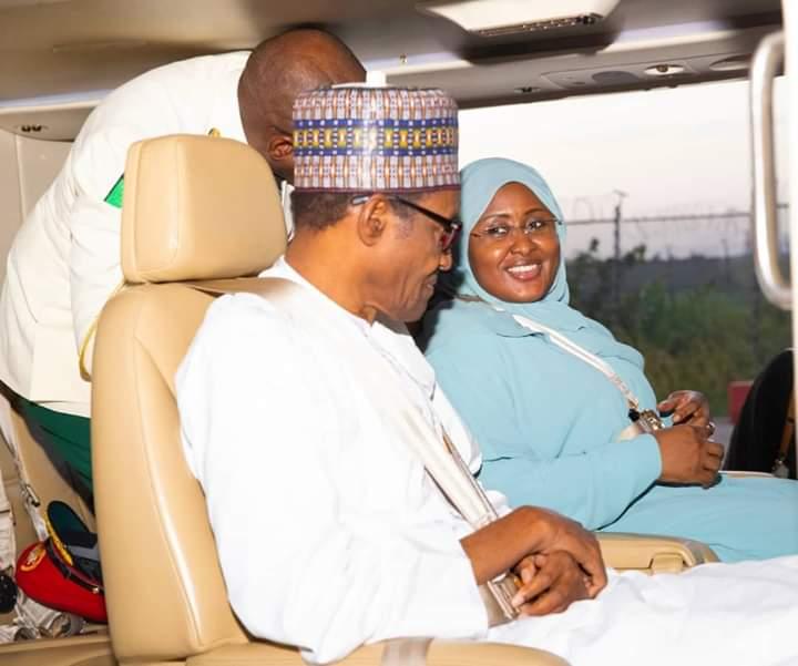D7H2ZLkXkAAFR17 - Breaking: President Muhammadu Buhari Returns To Nigeria With Wife After Lesser Hajj In Saudi(Photos)