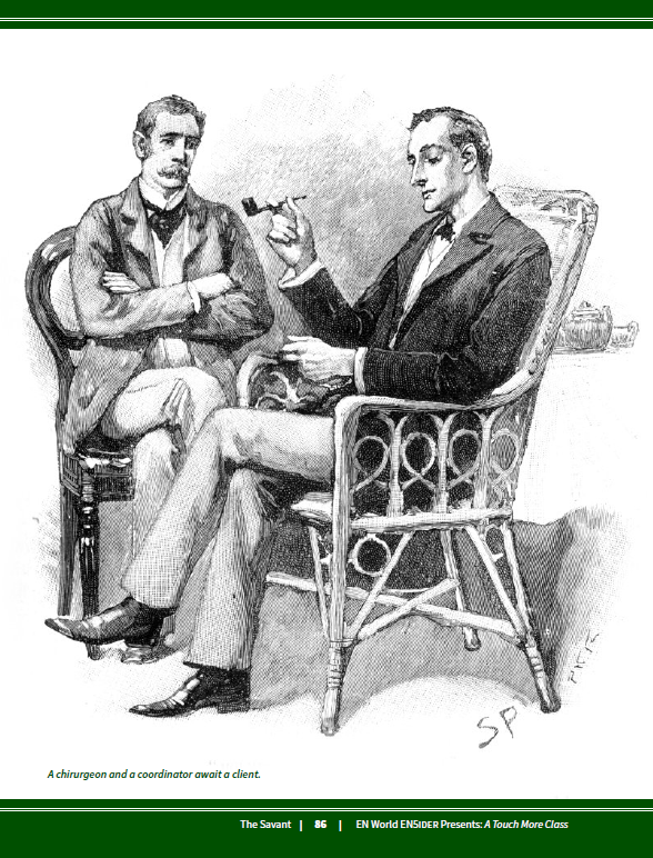 """""""I want my character to be like Sherlock Holmes"""" --> https://www.drivethrurpg.com/product/276167/5E-A-Touch-More-Class-Exclusive-Preview-The-Savant…  (and it's #free :D)  #dnd5e #dnd #rpg #ttrpg #dungeonsanddragons #SherlockHolmes"""