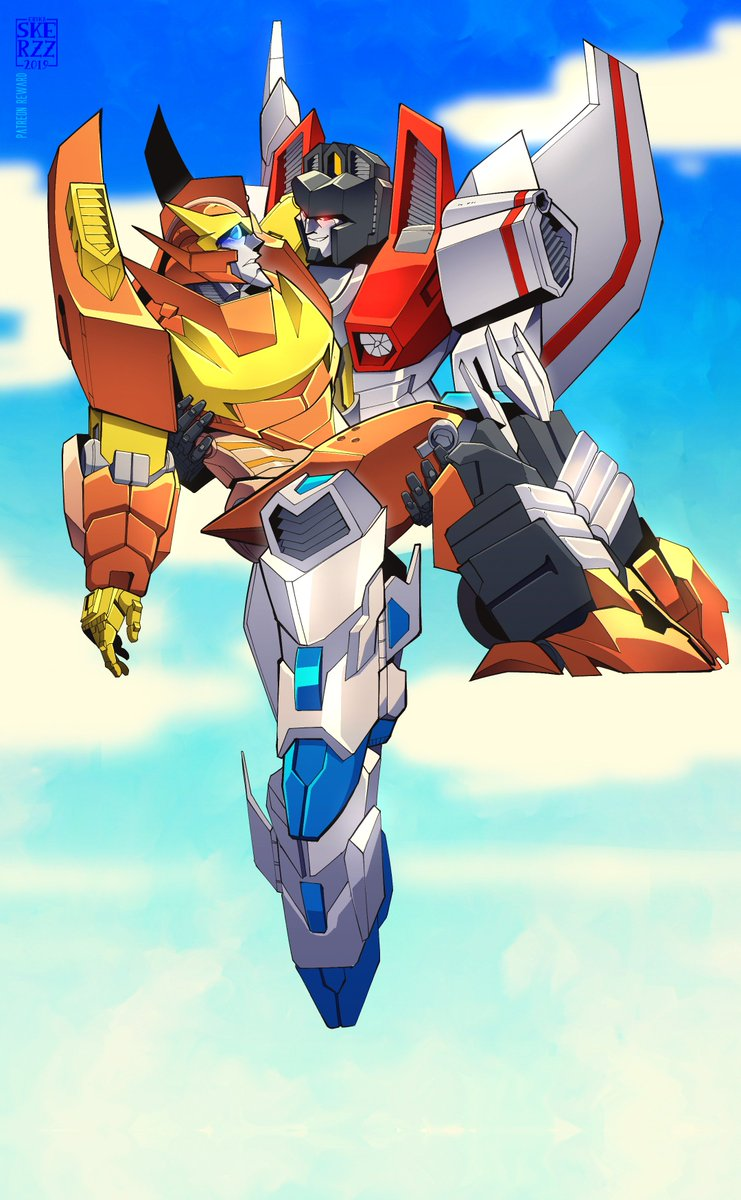 """""""You Look Like s If You Had Seen an Angel"""" Huge thanks to @trineleader for their support in Patreon #Rodimus #Starscream #Transformers #Maccadam #IDW"""