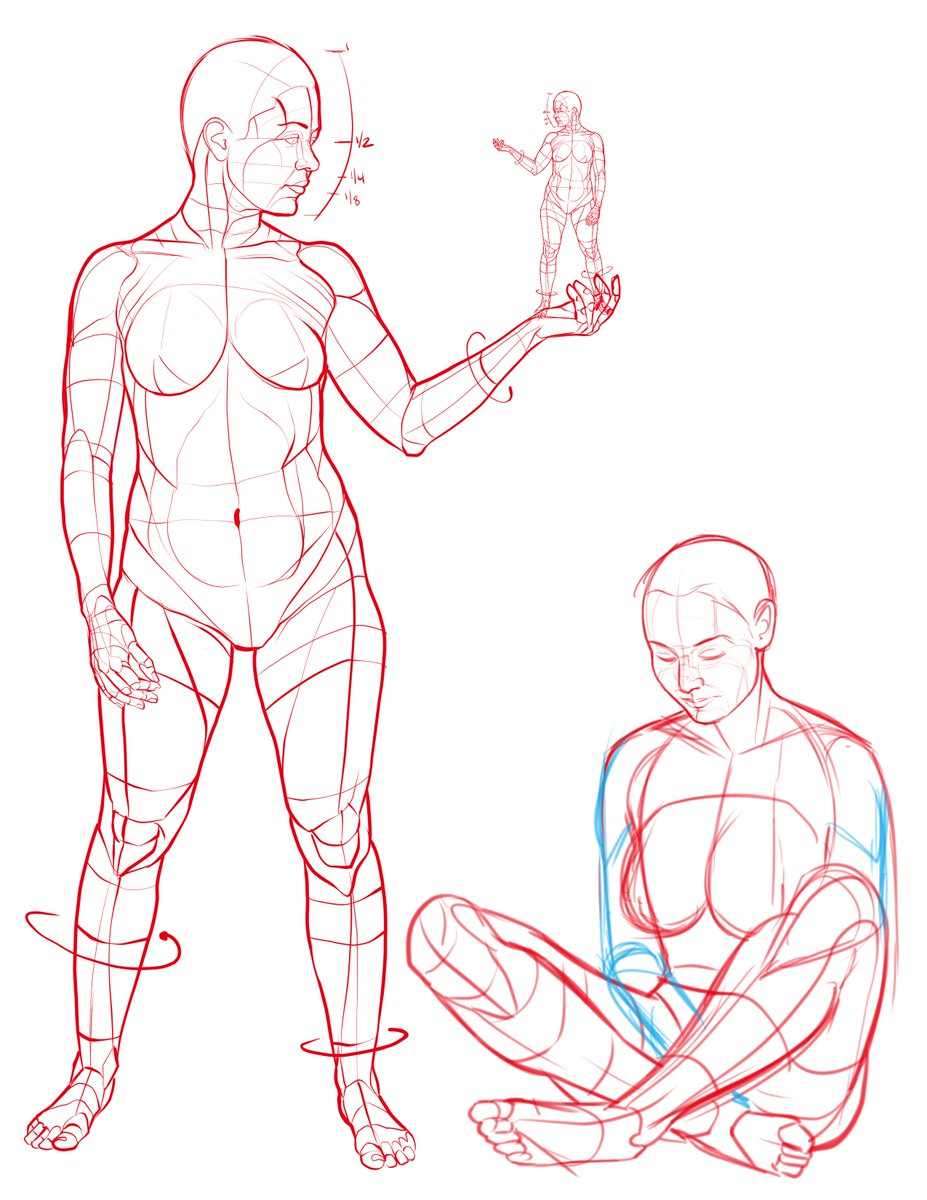 Figure drawing art reference from my new book Poses for