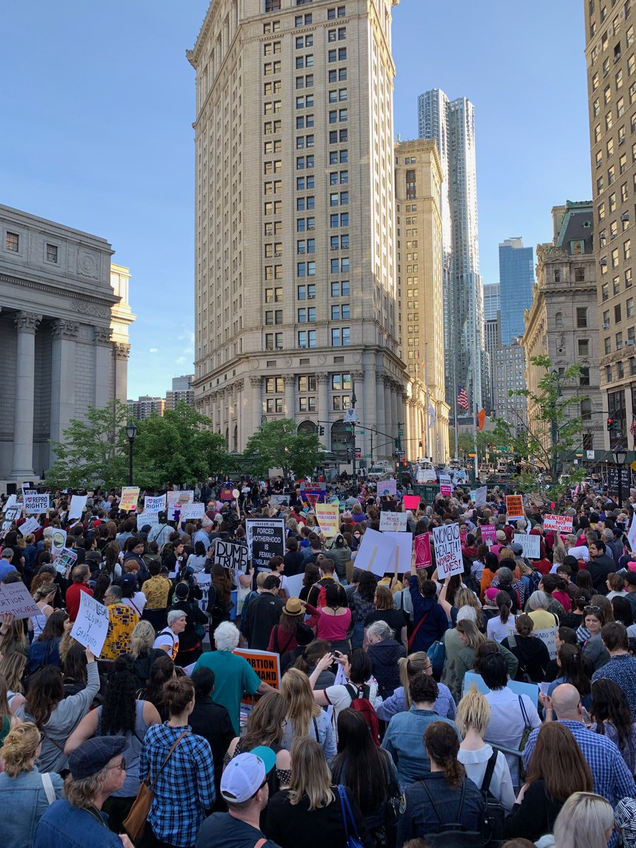 Rebecca Traister's photo on Foley Square