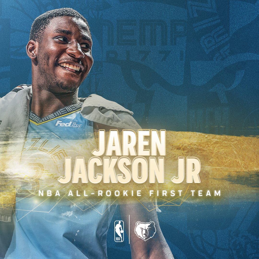 🥳 NBA All-Rookie First Team Vibes 🥳 Congrats to our 🦄 @jarenjacksonjr!