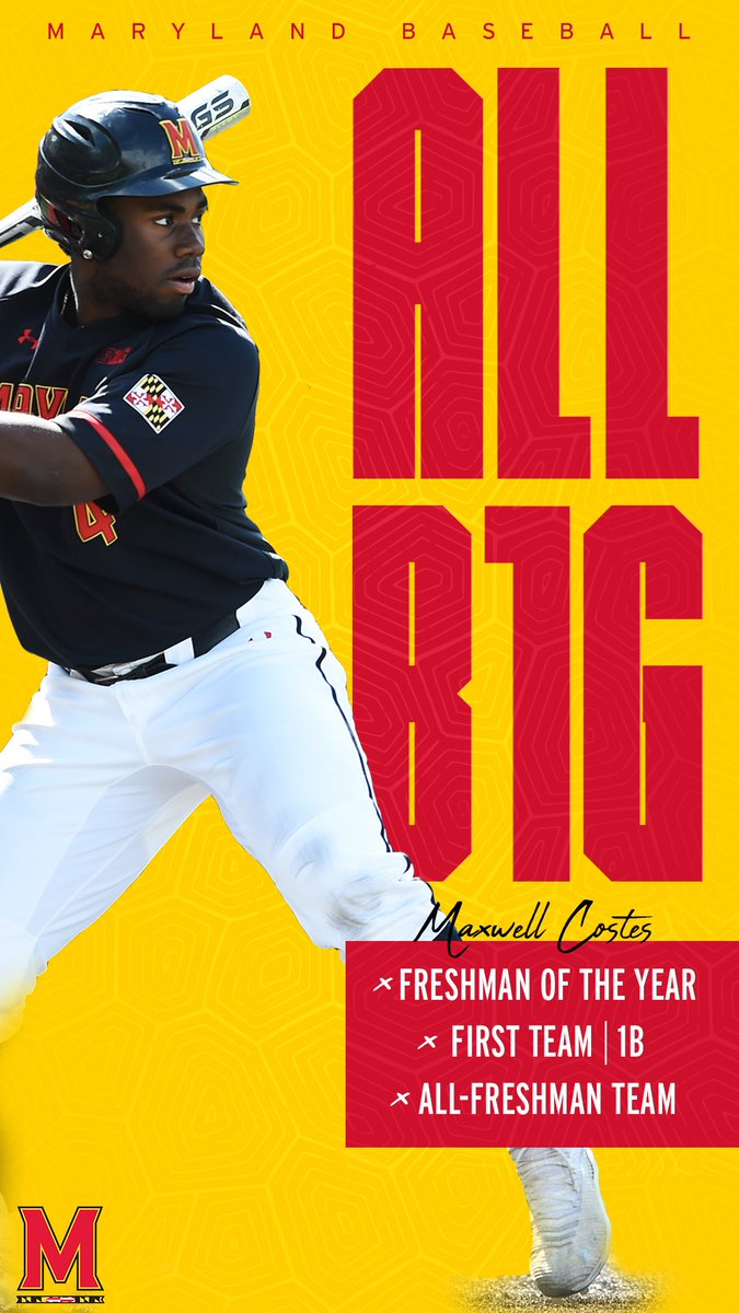 The Baltimore Bomber   Maxwell Costes is the Big Ten Freshman of the Year and First Team All-Big Ten!  #DirtyTerps<br>http://pic.twitter.com/FIXSLyLSiS