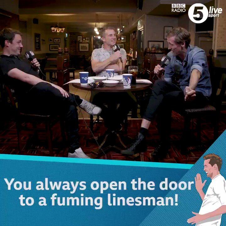"""It's a fight between the kitman and the assistant referee"" All because some managers leave it very late to give a half-time team talk! *NEW* episode of 'That Peter Crouch Podcast'https://bbc.in/30xcovS #passthepod 