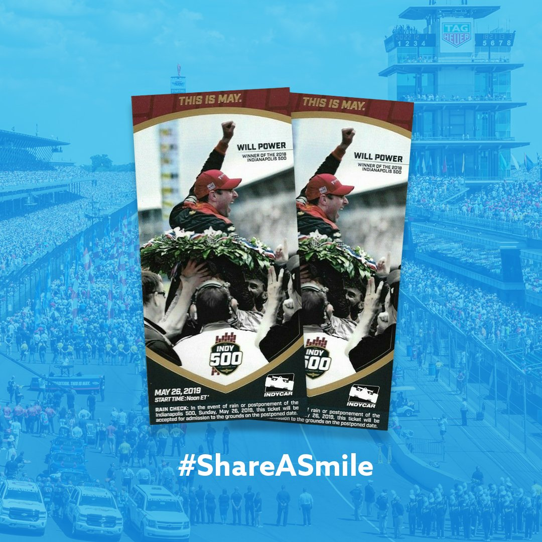 Last call! Post an #Indy500 themed selfie using #ShareASmile & tag us +@mclarenindy. Well announce 4 finalists on May 23rd at which point you can cast your vote on gosmile.com/shareasmile. Winner will be announced May 24th & get flown to the Indy 500 w/ trackside credentials!