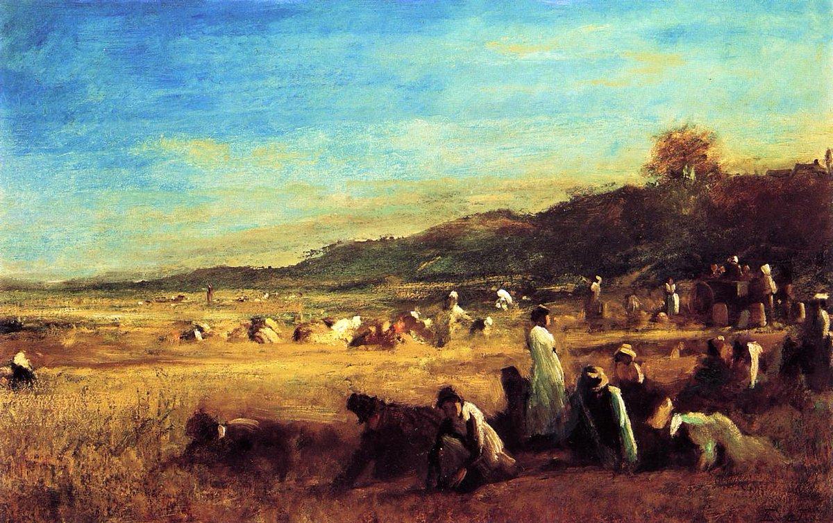 Study for &#39;The Cranberry Harvest, Island of Nantucket&#39;, 1879 #johnson #americanart<br>http://pic.twitter.com/Imx2vL5RdX