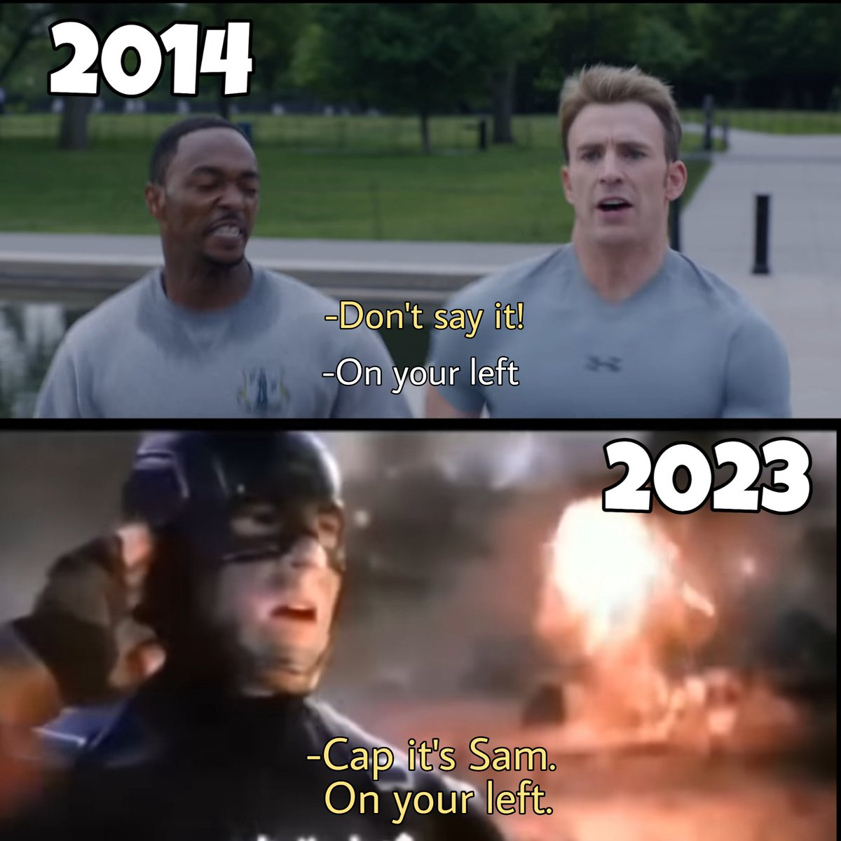 Did you notice? T_T #avengers #AvengersEndgame #CaptainAmerica #falcon #TheWinterSoldier #marvel