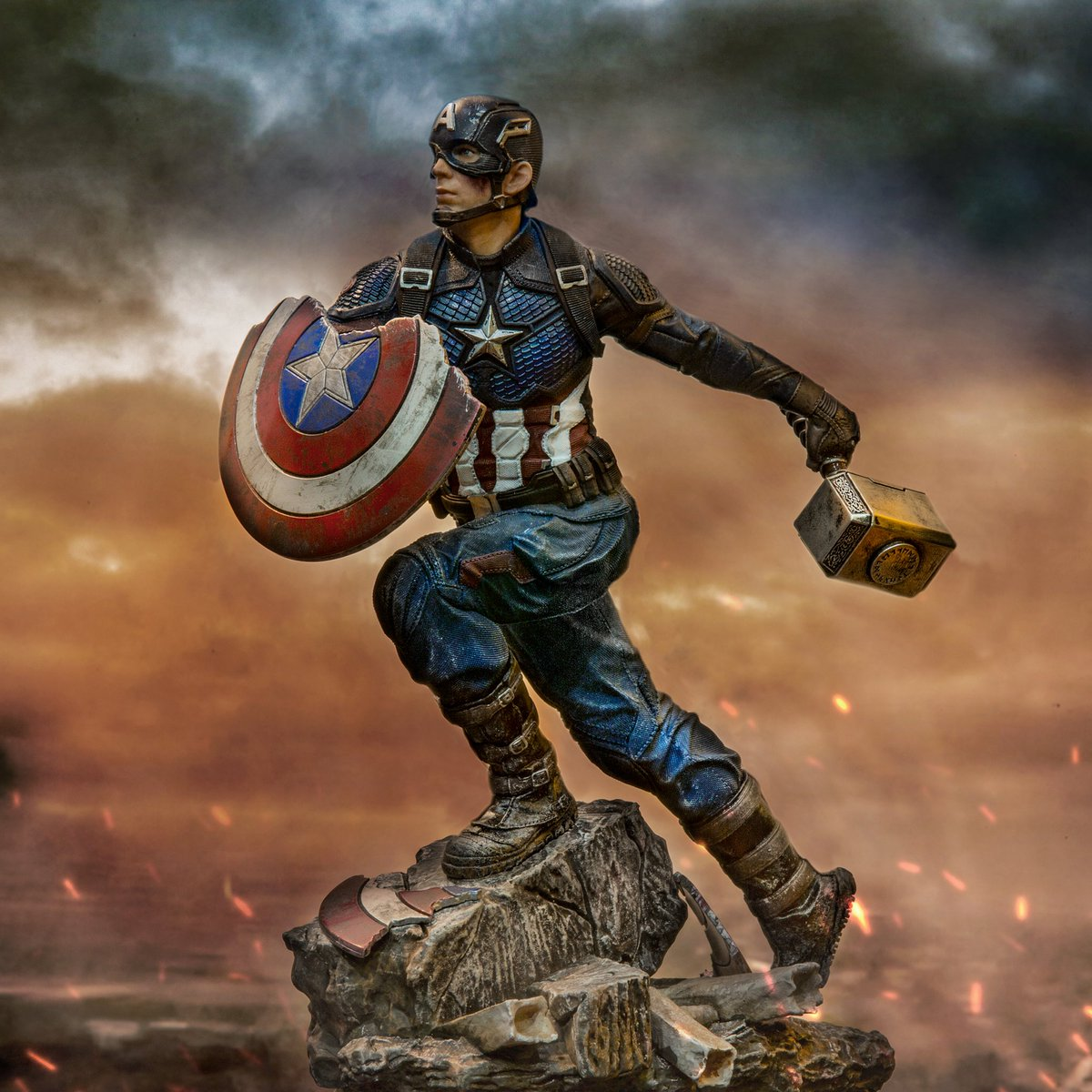 #AvengersEndgame Battle Diorama Series #CaptainAmerica 1/10 Deluxe Art Scale Limited Edition Statue https://www.bigbadtoystore.com/Search?HideSoldOut=true&Company=609&PageSize=50&SortOrder=New&Brand=2085&utm_source=site&utm_medium=link&utm_campaign=Twitter…