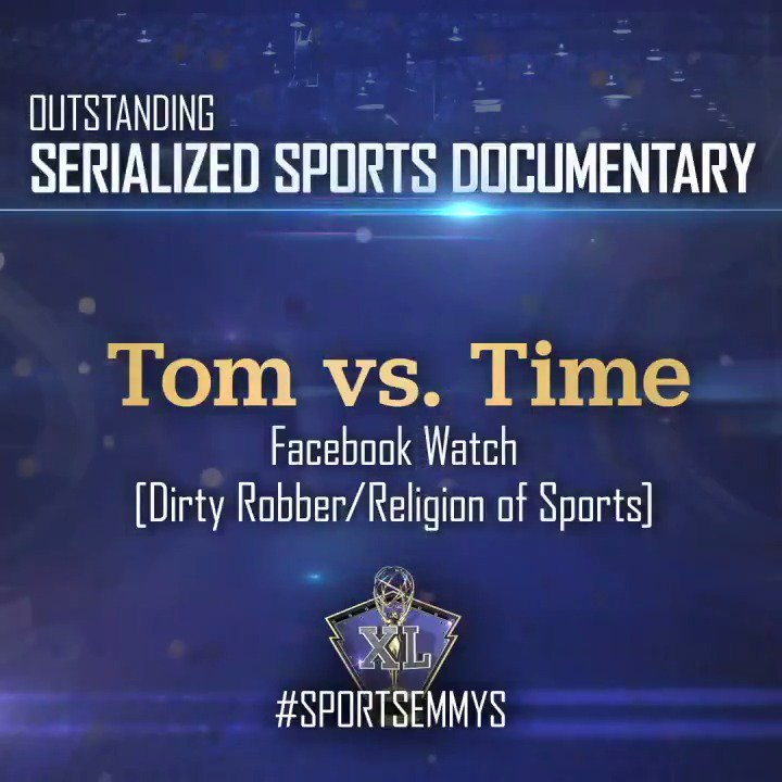 The Emmy Award for Outstanding Serialized Sports Documentary goes to @facebook's Tom vs. Time. #SportsEmmys