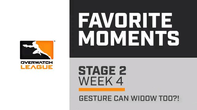 Yeah, @gesture can play Widow too. #OWL2019 Were 17 days out from Stage 3 starting. Let relive some of our favorite moments while we wait this out.