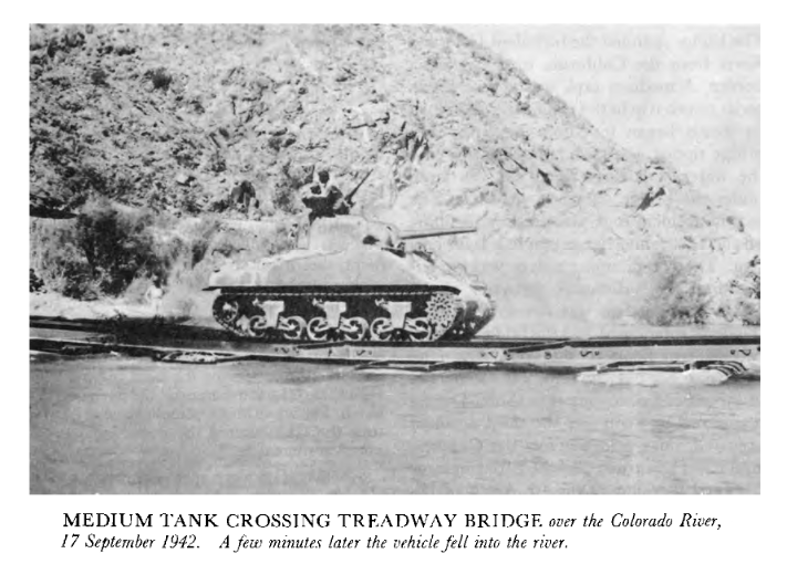 """This made me laugh. Never trust an officer """"experimenting with distances between tanks"""". (Nobody hurt in the incident - From CMH 10-4, 'The Corps of Engineers: Troops & Equipment' as kindly suggested by a chap on WW2F - link: https://archive.org/details/CMHPub10-4/page/n1… ) #Tanks #Bridgespic.twitter.com/H3soxf7vEe"""