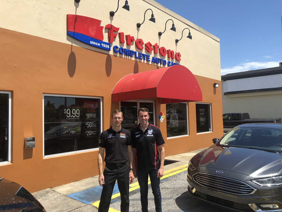 Interviews might be over, but @JD33Davison and I still needed to make a pit stop at @FirestoneTires before #Indy500MediaDay is complete! #Indy500 #ThisIsMay #INDYCAR