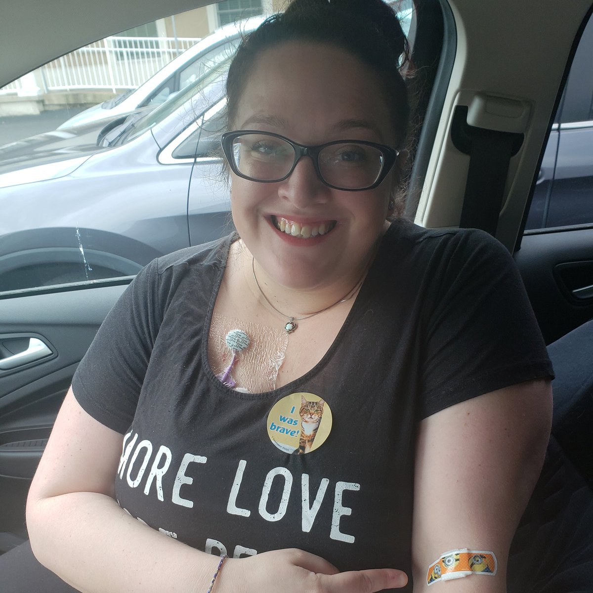 test Twitter Media - 💚😂 I got a sticker and a minion bandaid after my latest bloodwork! I think they felt mad for my poor little overworked vein..because I have exactly ONE good vein for drawing blood. 🦇😂 #lymedisease #lyme #lymeawareness #mycoplasma #babesiaduncani #babesia #bartonella #pots #💚 https://t.co/sQxmWcsrhI